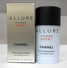 CHANEL ALLURE HOMME SPORT DEODORANT STICK 75 ML/2.0 OZ. NIB-CH123700