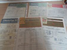More details for 6 somerset cup final scorecards - 5 have tickets  + autographs all are listed +