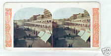 STEREOSCOPE SLIDE Ocean Front Algiers 1905 stereoview colour