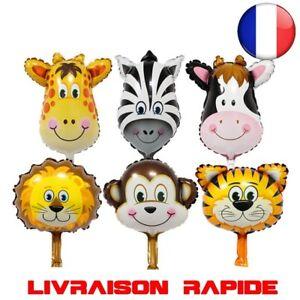 6 pcs/lot Mini tête animal Ballons gonflable air fête anniversaire enfant shower