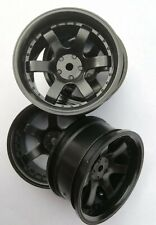 Rc Car 1/10 Drift 6 Spoke 37R Rims Wheels 6mm Offset fits Tamiya HPI HSP BLACK