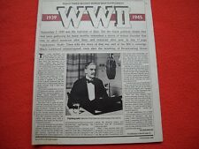 RADIO TIMES 2-8 SEPTEMBER 1989 WORLD WAR II SUPPLEMENT - SCARCE COLLECTABLE