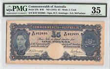 Australia, Commonwealth ND (1941) P-27b PMG Choice VF 35 5 Pounds