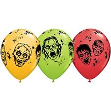 Party Supplies Halloween Fright Night Zombies Latex Balloons Pack of 10
