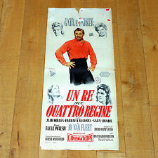 UN RE PER QUATTRO REGINE locandina poster Clark Gable Eleanor Parker Western D17