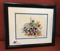 "Disney ""Around the World with the Fab Five"" 25th Anniversary LE cel Framed COA"