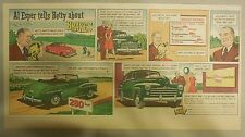 "Ford  Ad: ""Al Esper tells Betty about Brakes""  from 1940's"