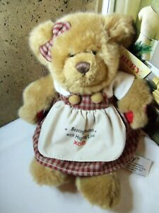 Ruby the Bear with Diabetes Russ Berrie Plush Stuffed Animal with tags