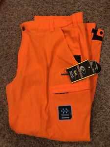 Men's Mossy Oak Blaze Orange Scent Control Waterproof Pants Sz XL 40-42 Hunting