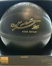 Kobe Bryant spalding basketball signed gold 24kt limited edition