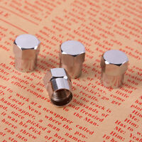 4Pcs Stainless Steel Valve Dust Caps Car Bike Bicycle Tube Tyre Valve Cap Nice!