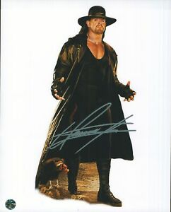Mark Calaway The Undertaker 8x10 Autographed Photo COA 7 Time World Champ WWE