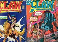 Claw #1 2 3 4 5 6 7 8 9 10 12 COMPLETE SERIES RUN! VG/F 5.0 1975-78 1ST APP CLAW