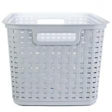 Sterilite Tall Weave Basket Cement 6/cs