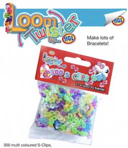 300x S-Clips for Making DIY Loom Kit Rubber Bands Bracelet Kids Loom Twister