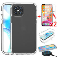 For Apple iPhone 12/12 Pro/12 Mini/12 Pro Max Case Clear Cover+Screen Protector