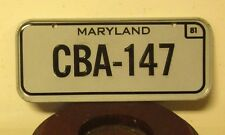 """Maryland miniature license-plate """"Cba-147� cereal giveaway 1981 metal mini"""