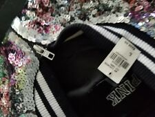 Victoria Secret Pink FASHION SHOW  Sequin VARSITY JACKET & matching yoga pants