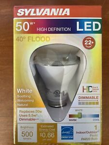 50W LED 40 degree Small Flood Bulb SYLVANIA 3472777 High Definition ~PAR20 Bulb