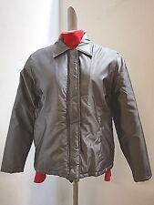 Jacke-Damen silbermetallic 38, leichtes Steppfutter, Außlegekragen, RV und Klett