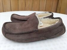 UGG Australia Men's Ascot Slippers Shoes Brown Suede Size Sz 8 5775 Moccasin