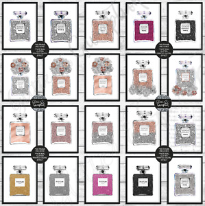 Fashion Art Perfume Bottle Bedroom Office Home Art Decor print All Colours print