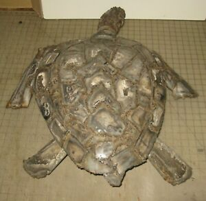 """28"""" Long METAL SEA TURTLE SCULPTURE Signed and Numbered 03/04 - #001A VERG?"""