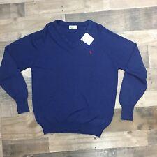 Spalding V-Neck Tennis Sweater Vintage - Navy - Size L