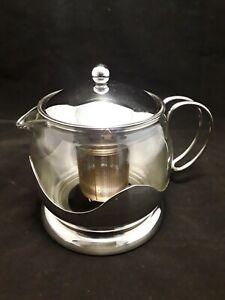 La CAFETIERE Infuser Tea Pot Le TEAPOT - Glass & Stainless Steel 4 CUP
