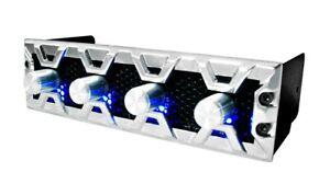 "Fan Controller 4 Channels Lamptron FC3 Silver Black Bezel Blue LED for 5.25"" Bay"