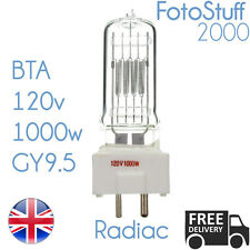 Radiac BTA 120V 1000W GY9.5 Beseler PROIETTORE LAMPADINA LAMPADA /