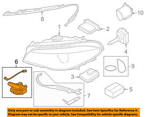 BMW OEM 11-16 535i Headlight Head Light Lamp-Hardware Kit 63127262731