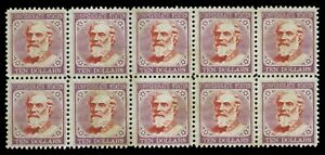 Rare, Confederate states, General Lee, High Value 10 dollars, set of Ten stamps!