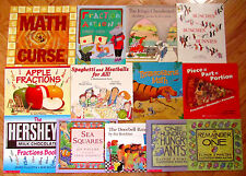 Lot 13 MATH PICTURE BOOKS Multiplication Division Fractions More L1
