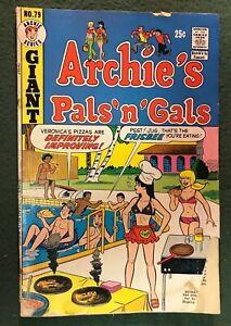 Archie's Pals 'n' Gals #79 Archie Comics Bronze Age Betty Jughead Veronica fr/g
