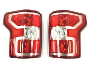18-20 Ford F-150 Driver & Passenger Side Rear Halogen Tail Lamp Lights new OEM