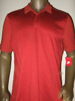 Men's L Solid Cayenne Red Nike Air Max Standard Fit Polo Golf Sport Shirt 805118