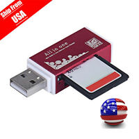 All In 1 USB 2.0 Multi Memory Card Reader For T-Flash, Micro SD, Micro SDHC USA