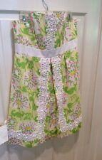 Lilly Pulitzer Jubilee Lemon Sorbet Strapless Dress Size 10. New!  Pretty!