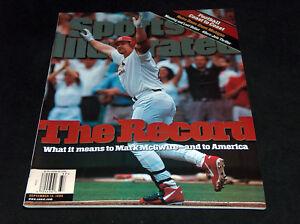 1998 Sports Illustrated Magazine Mark McGwire 62 Home Run HR The Record Cover