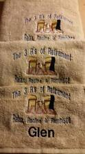 Relax Rest Recline Retirement Towel Set Personalized Gift Beach Bath Towels Hand