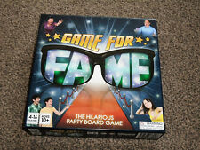 GAME FOR FAME : PARTY BOARD GAME - By GIGGLY GAMES IN VGC (FREE UK P & P)