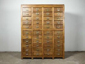 Vintage Wooden Rustic Drawers Cabinet Apothecary Shop Haberdashery MILL-987