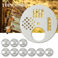 10* Silver Bee Hive Box Entrance Gate Nest Disc Beekeeping 2.8inch Replacement