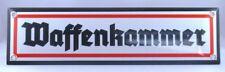 Emailleschild Waffenkammer 8 x 30 cm NEU!