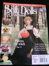 SOFT DOLLS & ANIMALS~November 2002 cloth doll patterns~techniques~tips magazine