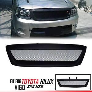 Front Net Grill Grille Black For Toyota Hilux SR5 MK6 Vigo 05 06 07 08 09 10 11