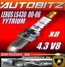 FOR LEXUS LS430 4.3 V8 VVTI 2000-2006 BRISK SPARK PLUGS X8 YYTRIUM FAST DISPATCH
