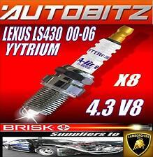 Para Lexus LS430 4.3 V8 VVTi 2000-2006 Brisk Bujías X8 YYTRIUM Envío rápido