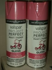(2) VALSPAR FROSTY BERRY SPRAY PAINT #84221 PINK PROJECT PERFECT RARE COLOR LOT